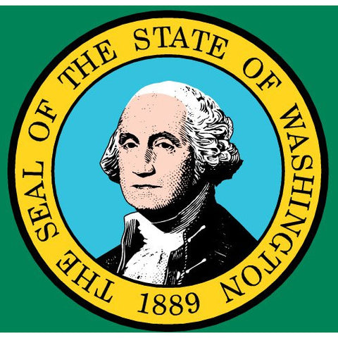 Washington State Flag Sticker Decal - The Evergreen State Bumper Sticker