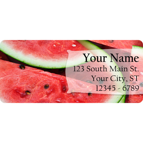 Watermelon Slices Personalized Return Address Labels Summer Fruit Water Melon - The FinderThings