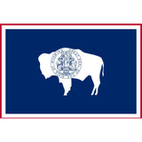 Wyoming State Flag Sticker Decal - The Cowboy State Bumper Sticker