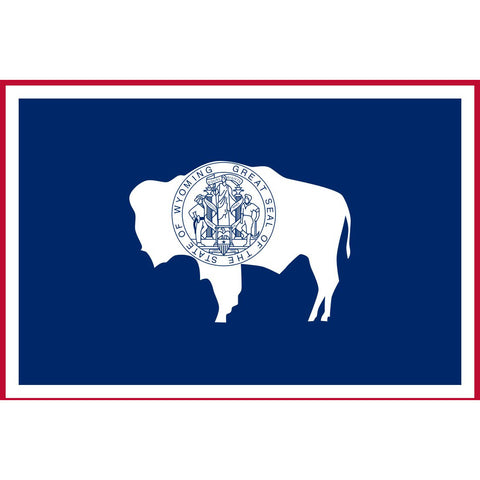 Wyoming State Flag Sticker Decal - The Cowboy State Bumper Sticker - The FinderThings