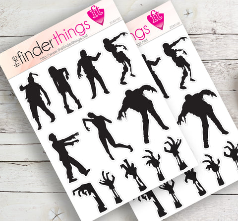 Zombie Dead Walking Stickers for Scrapbook, Planners, and Fun