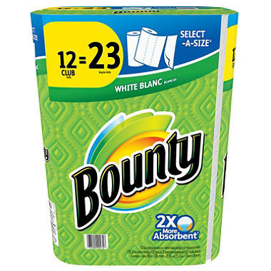Bounty Paper Towels (Select A Size )