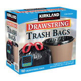 Kirkland Drawstring Trash Bag - 33 Gallon