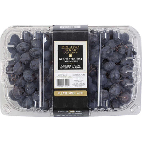 Black Grapes Seedless 4 lbs(*smart snack Compliant)