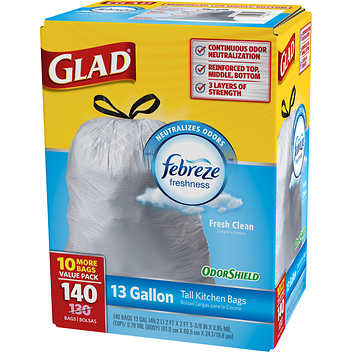 Glad with Febreeze Kitchen Bags