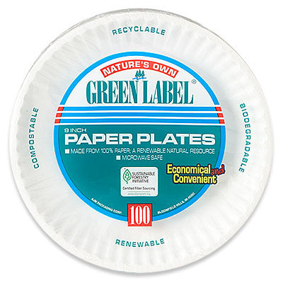 Green Label Paper Plates