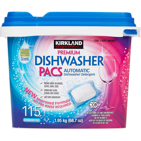 Kirkland Dishwasher Pacs