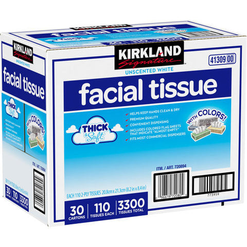 Kirkland Facial Tissue Horizontal