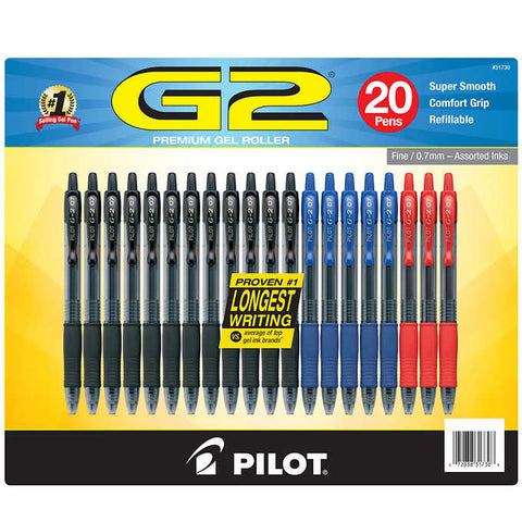 Pilot G2 Assorted Gel Pens