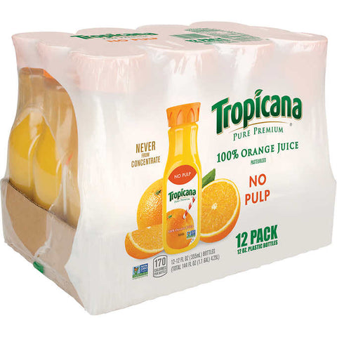 Tropicana Pure Premium Orange Juice, No Pulp