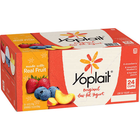 Yoplait Original Low Fat Yogurt, Variety Pack