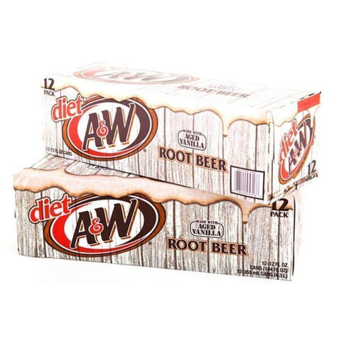 A&W Diet Root Beer Cans