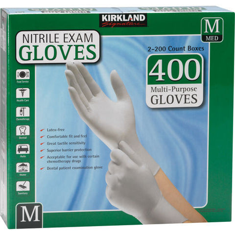 Kirkland Nitrile Exam Gloves (Medium)