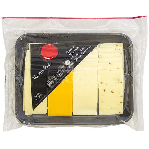 Natural and Kosher Sliced Cheese Platter