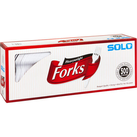 Solo White Heavyweight Forks