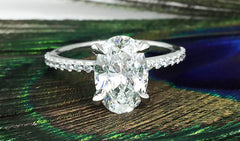 2ct oval diamond engagement ring