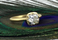 1.2ct diamond engagement ring in 18k yellow gold