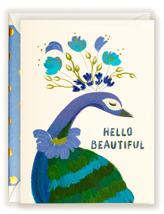 Hello Beautiful - Greeting Card