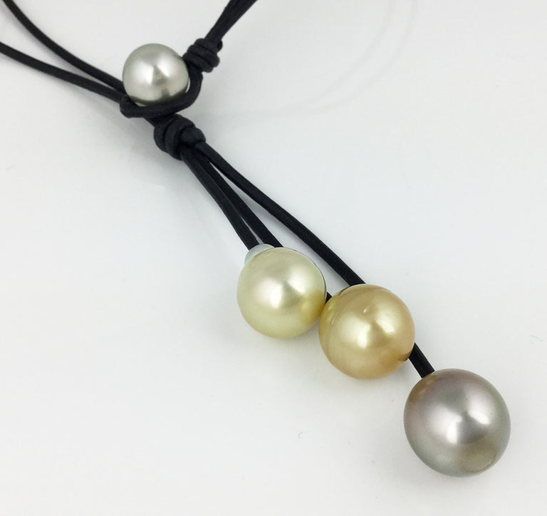 TAHITIAN PEARL KNOT NECKLACE