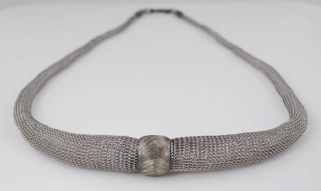 Knit Sterling Silver Necklace