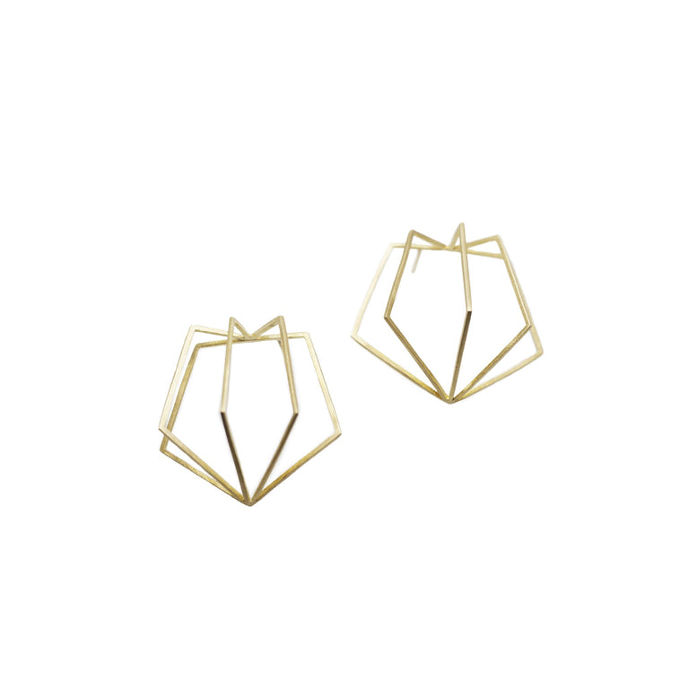 Pentagon Cage Earrings