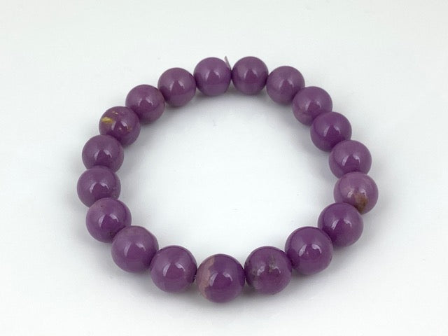 10mm Phosphosiderite Sphere Bracelet on stretch wire. 7""