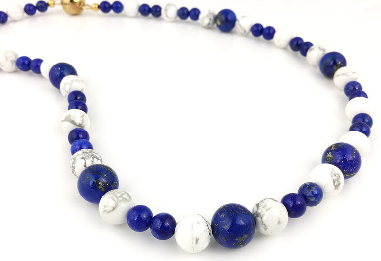 LAPIS & HOWLITE NECKLACE