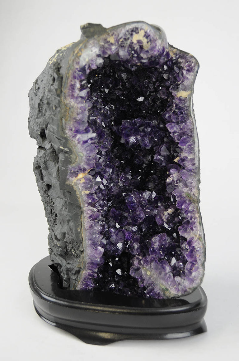AMETHYST GEODE WITH WOODEN BASE