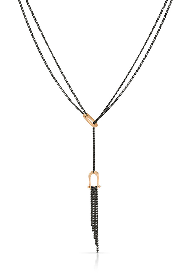 Rose Gold Fringe Lariat