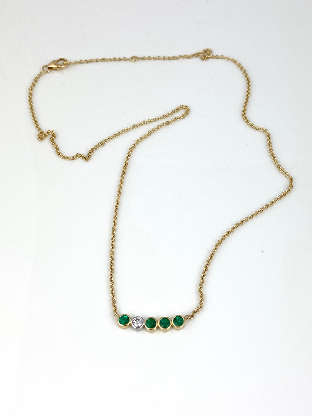 Emerald Dots Necklace