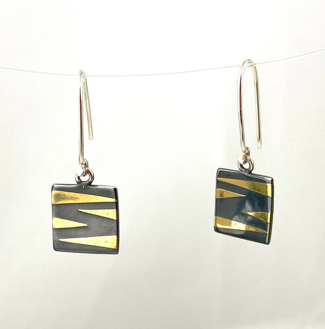 Square Tiger Stripe Earring