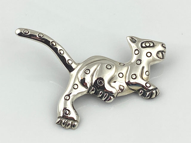 Sterling Silver Jaguar Pin
