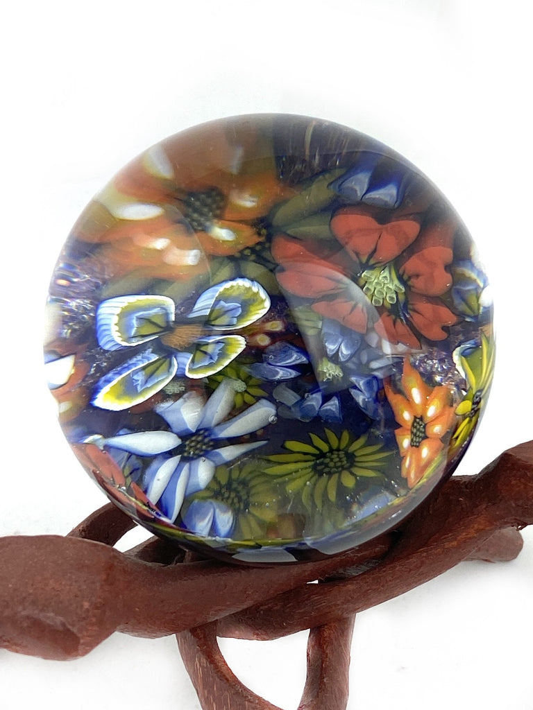 "3"" Multi-color Flowers Marble"