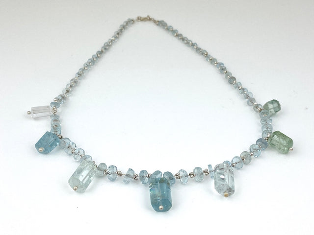 Aquamarine Fringe Necklace