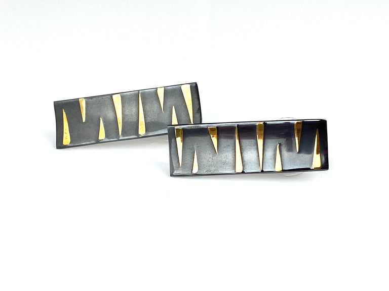 Rectangle Tiger Stripe Earrings