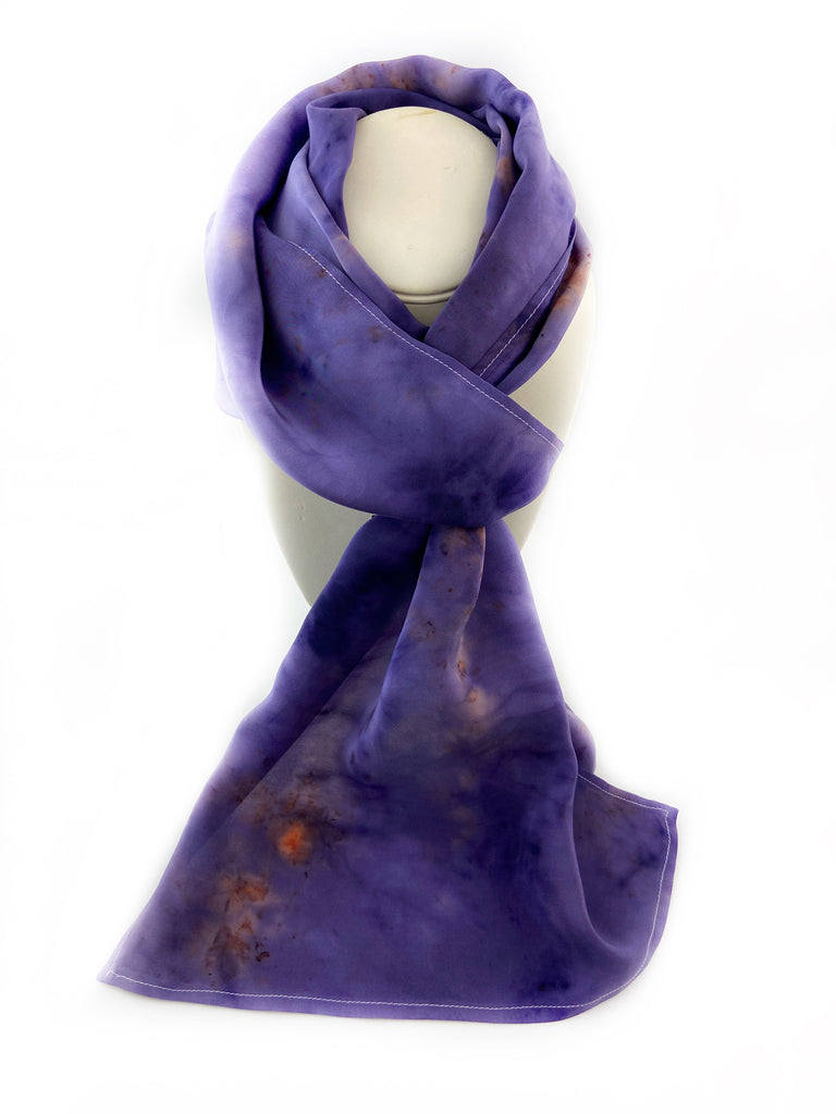 Natural Solar Dyed Silk Scarf