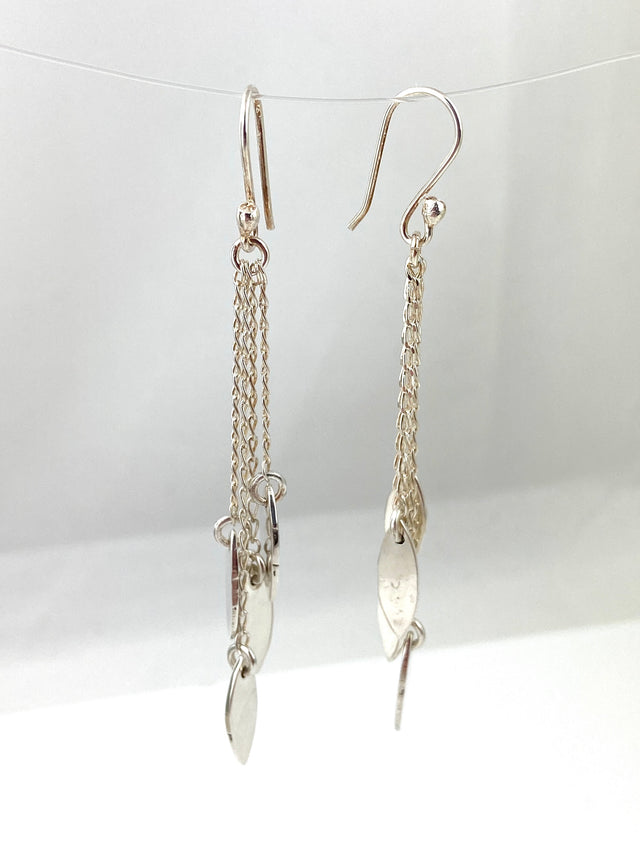 Quadruple Chain Dangle Marquis Earrings