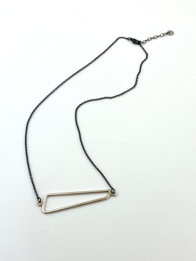 Oxidized Silver Necklace