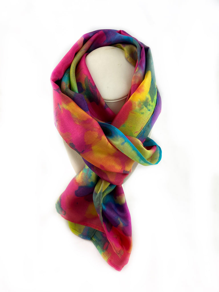 Abstract Multi-Color Scarf