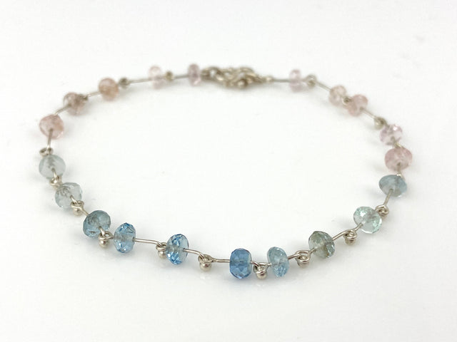 Natural Aquamarine & Beryl Bracelet