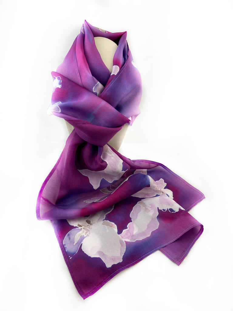 Orchids Silk Scarf