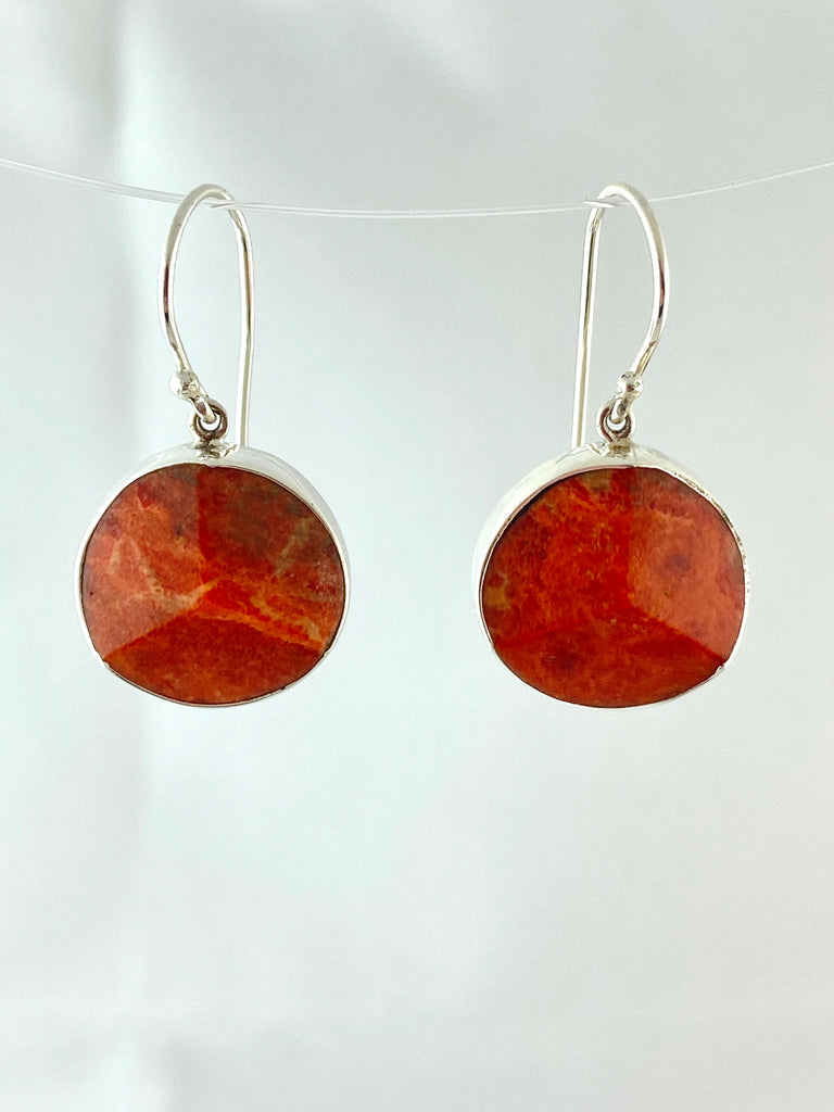 Dyed Coral Earrings