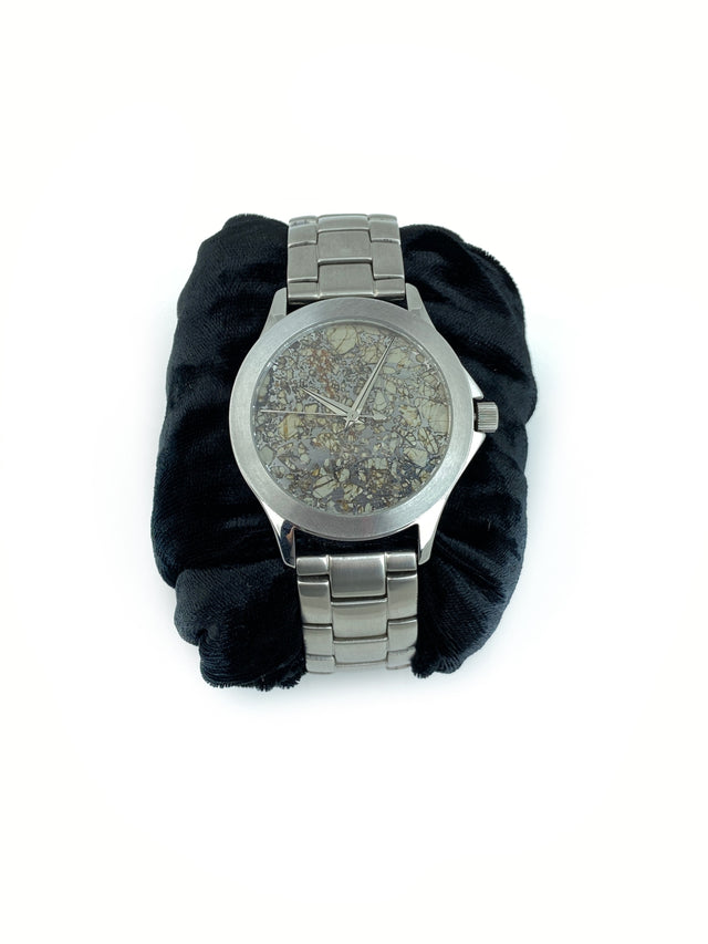 METEORITE WITH PERIDOT FACE WATCH