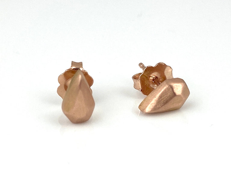 Medium Rose Gold Sculpt Studs