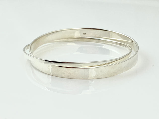 Double Silver Bangles
