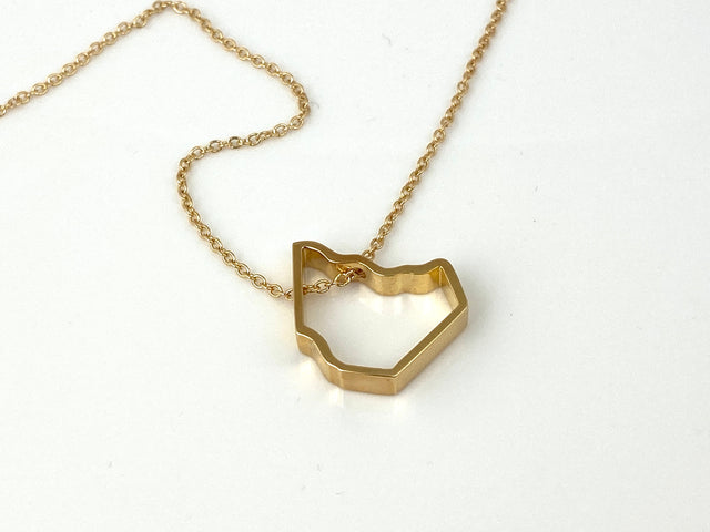 Gold Plated Mason County Pendant