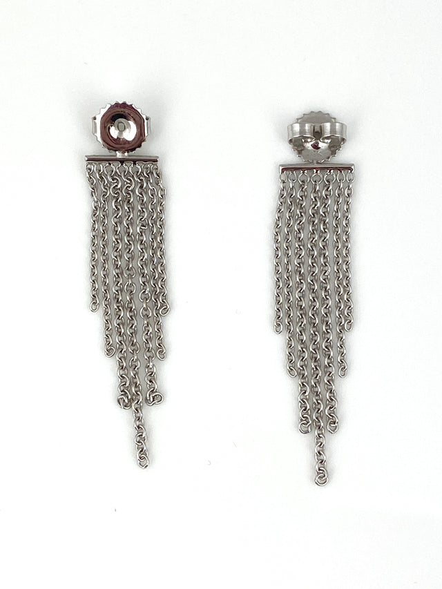 18k white gold fringe earring backs can be worn on any post earring!
