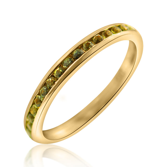 Green Sapphire Eternity Band