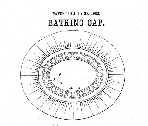 bathing cap shower cap invented US patent