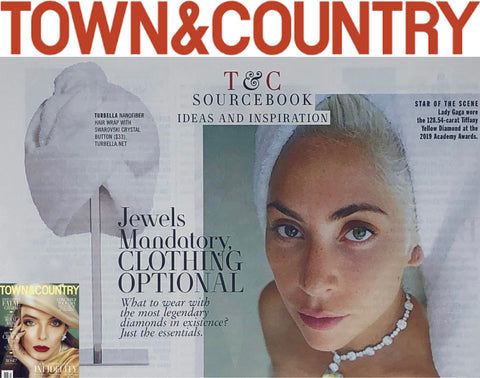 Town & Country magazine T&C May 2019 lady gaga hair wrap Turbella